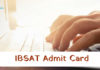 IBSAT Admit Card 2018