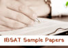 IBSAT Sample Papers 2018