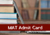 MAT December 2018 Admit Card