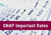 SNAP Important Dates 2020