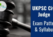 UKPSC Civil Judge Exam Pattern 2019