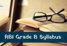 RBI Grade B Officer Syllabus 2018
