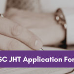 SSC JHT application form 2020
