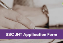 SSC JHT Application form 2018