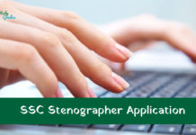 ssc stenographer application form 2018