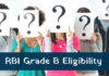 RBI Grade B Officer Eligibility 2018