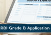 RBI Grade B Officer Application Form 2018