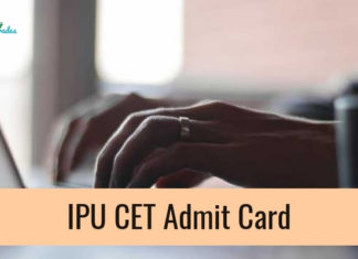 IPU CET Admit Card 2019