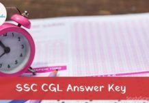SSC CGL answer key 2021