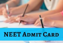 NEET Admit Card 2019