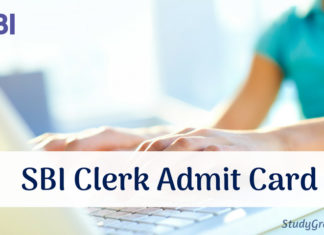 SBI Clerk Admit Card 2019