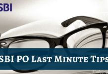 sbi po last minute tips 2018