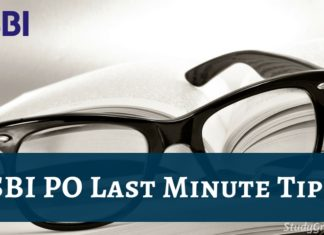 sbi po last minute tips 2019