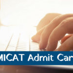 MICAT Admit Card 2019