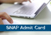 snap admit card 2018