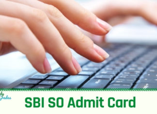 SBI SO Admit Card 2019