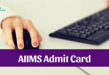AIIMS Admit Card 2019