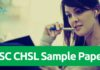 SSC CHSL Sample Papers 2018