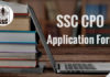 SSC CPO Application Form 2019