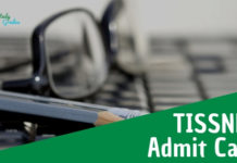 TISSNET Admit Card 2019