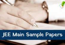 JEE Main Sample Papers 2019