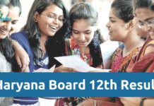 Haryana Board 12th Result 2018