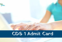 UPSC CDS 1 admit card 2020