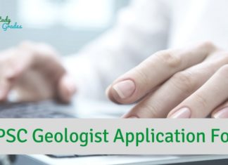 UPSC Geologist Application Form 2019