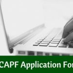 CAPF Application Form 2019