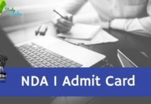UPSC NDA 1 Admit Card 2021