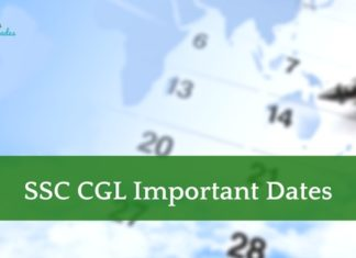 SSC CGL Important Dates 2018
