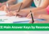 JEE Main Answer Keys 2018 by Resonance