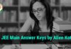 JEE Main Answer Keys by Allen Kota