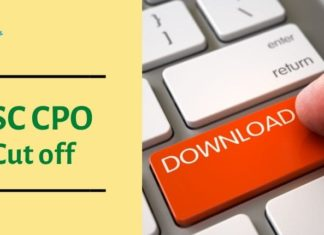SSC CPO Cut off 2020