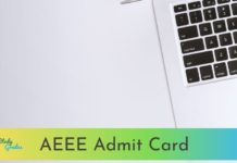 AEEE admit card 2021