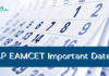 AP EAMCET important Dates 2019