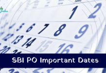 SBI PO Important Dates 2019