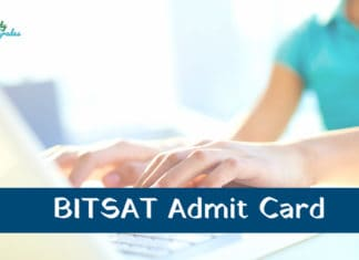 BITSAT Admit Card 2019
