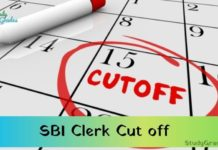 sbi clerk cut off 2021