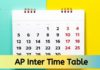 Ap Inter Time Table 2020