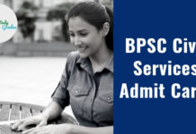 BPSC Civil Services Admit Card 2020