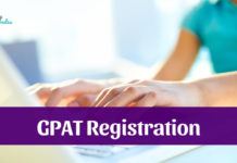 GPAT Application Form 2019
