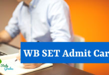 WB SET admit Card 2018