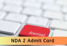 NDA 2 admit card 2020