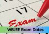 WBJEE Exam dates 2021