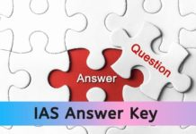 IAS Answer Key 2020