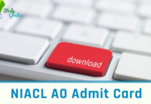 NIACL AO admit Card 2018