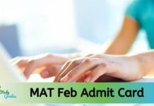 MAT Admit Card Feb 2020
