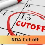 NDA Cut off 2020