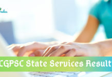 CGPSC State Services 2019 Result
